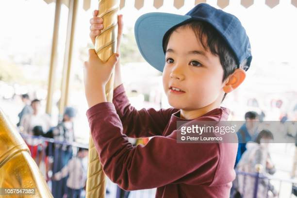 Boy at fairground