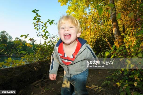 Boy at Oaks Bottom Wildlife Refuge - Portland, Oregon