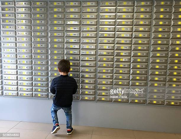 Boy at Post Office