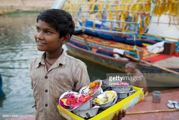 Boy at Ramghat in Chitrakoot, Uttar Pradesh, India.