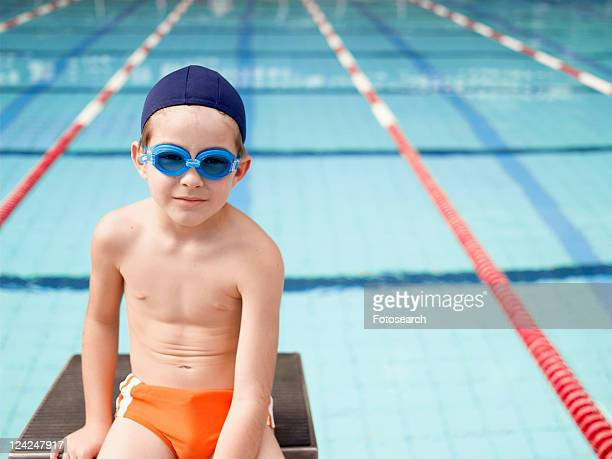 Boy at swimming pool (portrait)