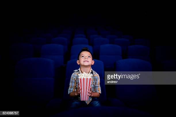 boy at the cinema - the favourite film stock photos and pictures