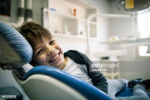 boy at the dental office