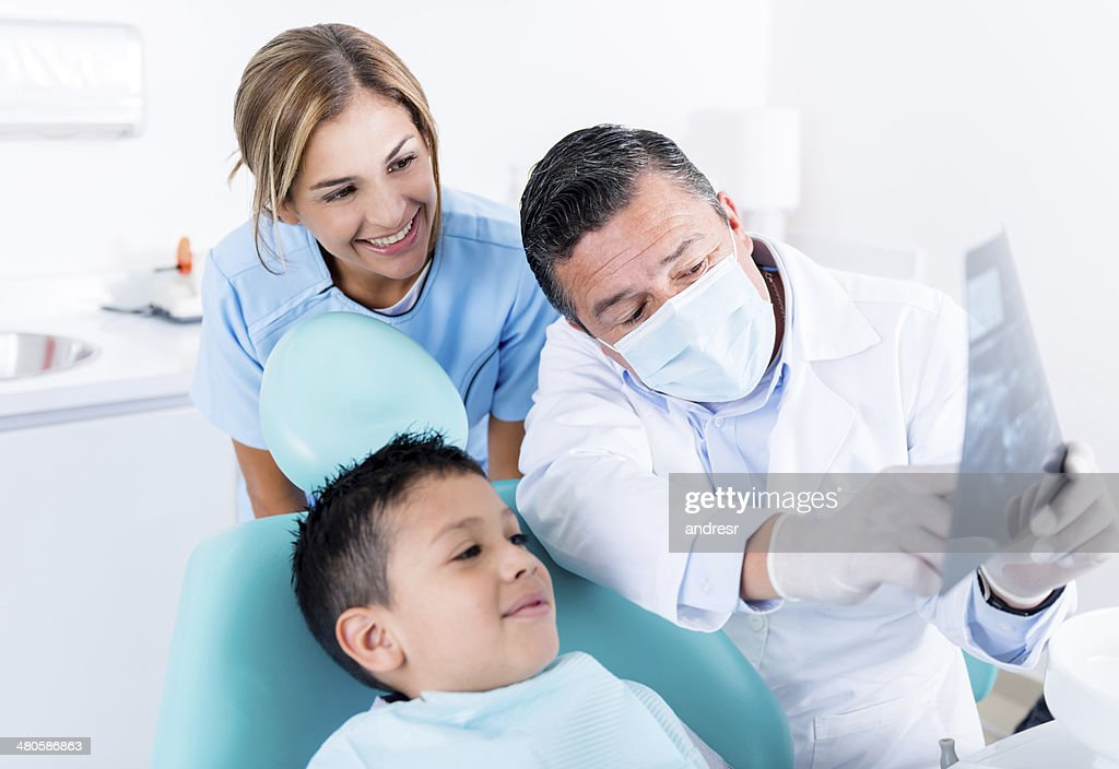 Boy at the dentist : Stock Photo