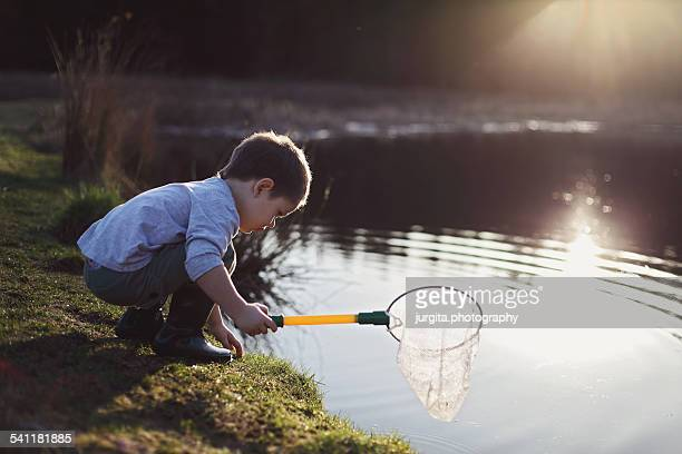 Boy at the pond