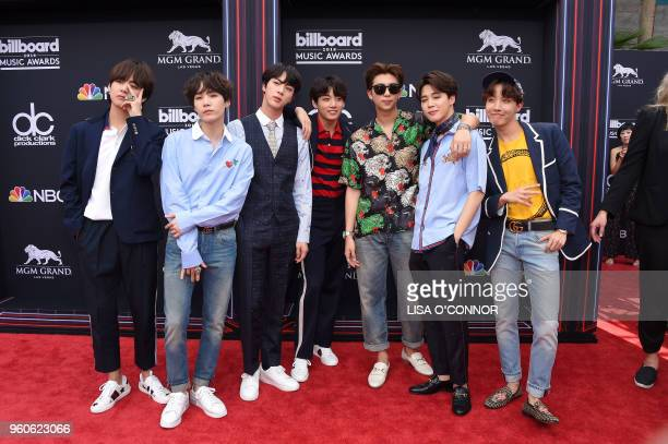 Boy Band BTS attends the 2018 Billboard Music Awards 2018 at the MGM Grand Resort International on May 20 2018 in Las Vegas Nevada