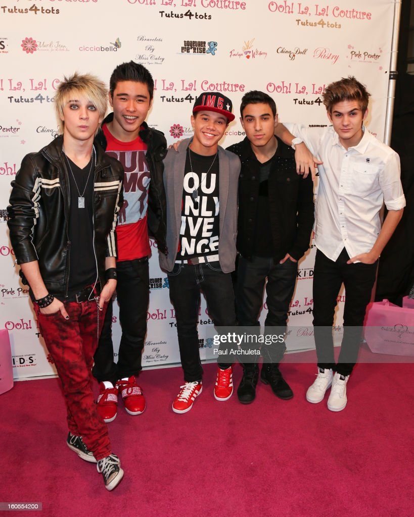 Boy Band IM5 attends the 4th Annual Tutus4Tots charity event on February 2, 2013 in Chino, California.