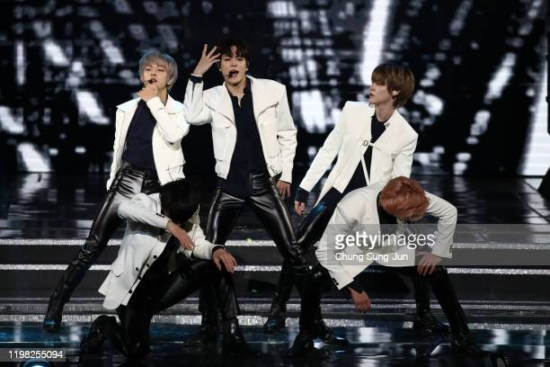 Boy band NCT DREAM perform on stage during the 9th Gaon Chart K-Pop Awards on January 08, 2020 in Seoul, South Korea.