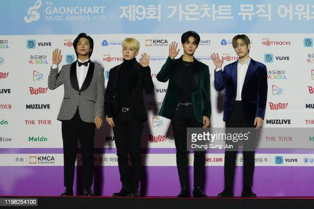 Boy band N.Flying attend the 9th Gaon Chart K-Pop Awards on January 08, 2020 in Seoul, South Korea.