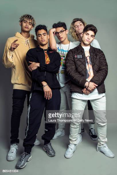 Boy band PrettyMuch photographed for NY Daily News on October 2 in New York City