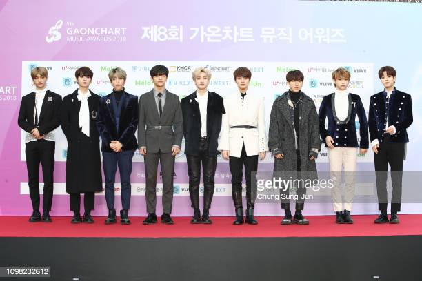 Boy band Stray Kids attends the 8th Gaon Chart KPop Awards on January 23 2019 in Seoul South Korea