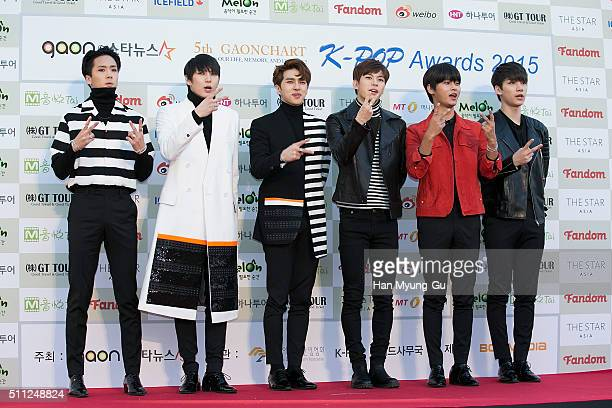 Boy band VIXX attends the 5th Gaon Chart K-Pop Awards on February 17, 2016 in Seoul, South Korea.