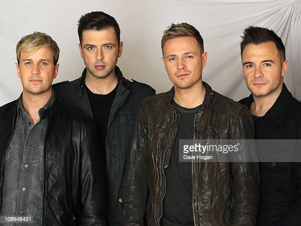 Boy band Westlife pose for a portrait shoot in London on October 17 2010