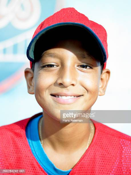 boy (12-14) baseball player, portrait - dominican ethnicity stock photos and pictures