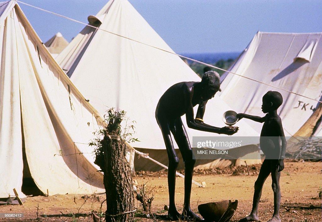 A boy, belonging to Mundari displaced et : News Photo