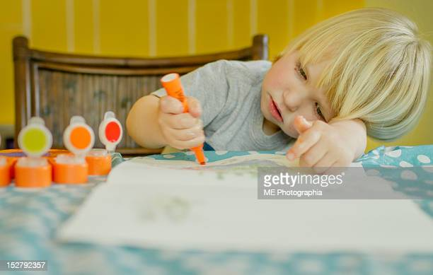 boy coloring - pomona new york state stock pictures, royalty-free photos & images