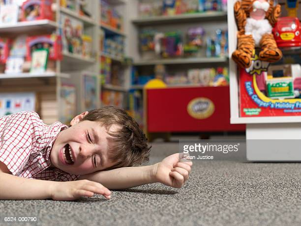 Boy Crying in Toy Store