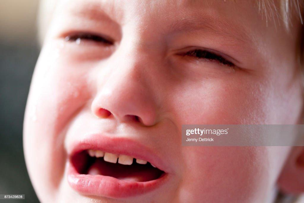Boy crying : Stock Photo