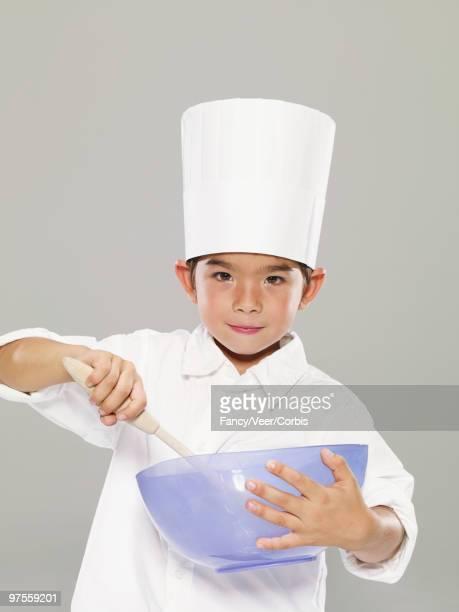Boy dressed as a chef