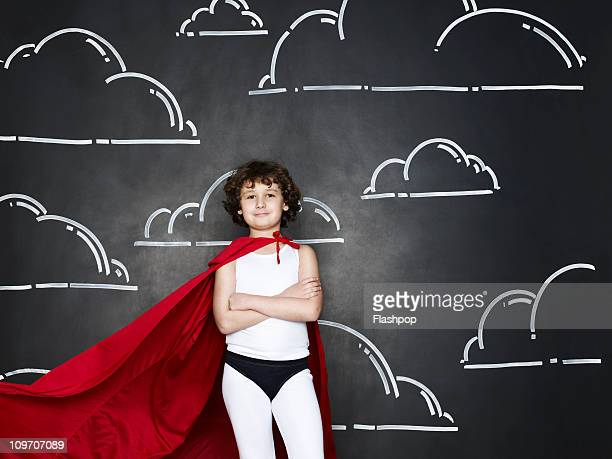 boy dressed as a superhero - superhero stock pictures, royalty-free photos & images