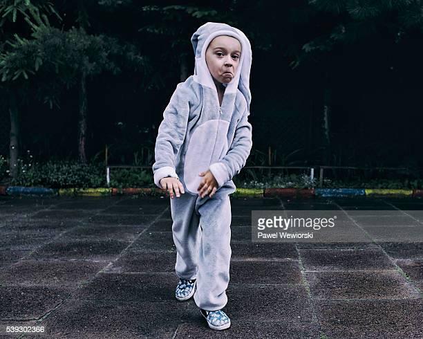Boy dressed as bunny