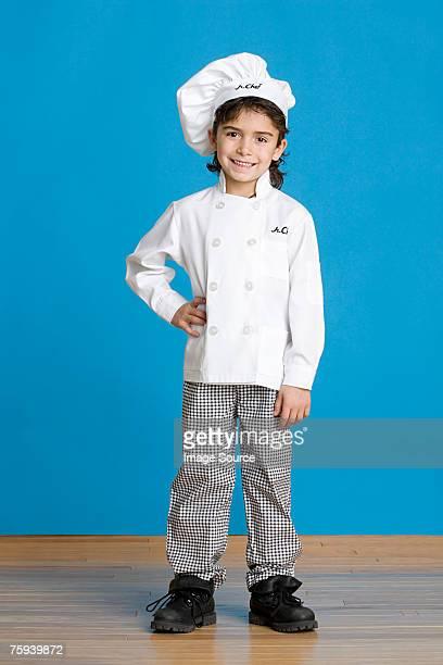 Boy dressed as chef