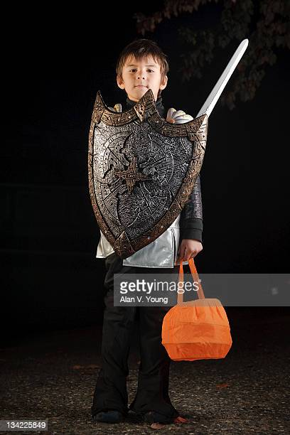 Boy dressed as Knight on Halloween