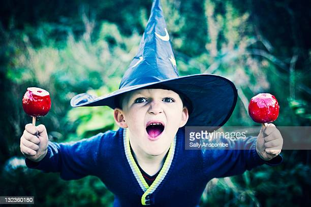 Boy dressed up as witch