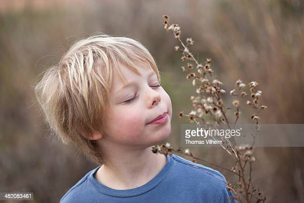 Boy enjoys nature