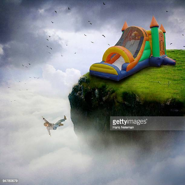 Boy falling off a bouncy castle, Republic of Ireland