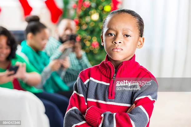Boy feels ignored at Christmastime by family