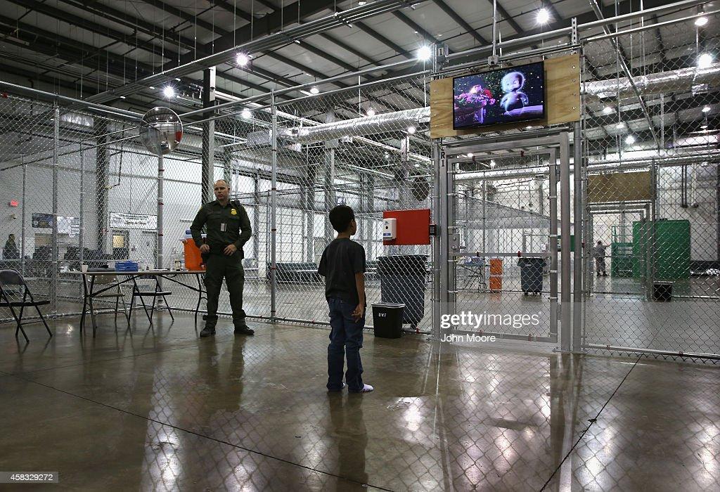 U.S. Border Patrol Houses Unaccompanied Minors In Detention Center : News Photo