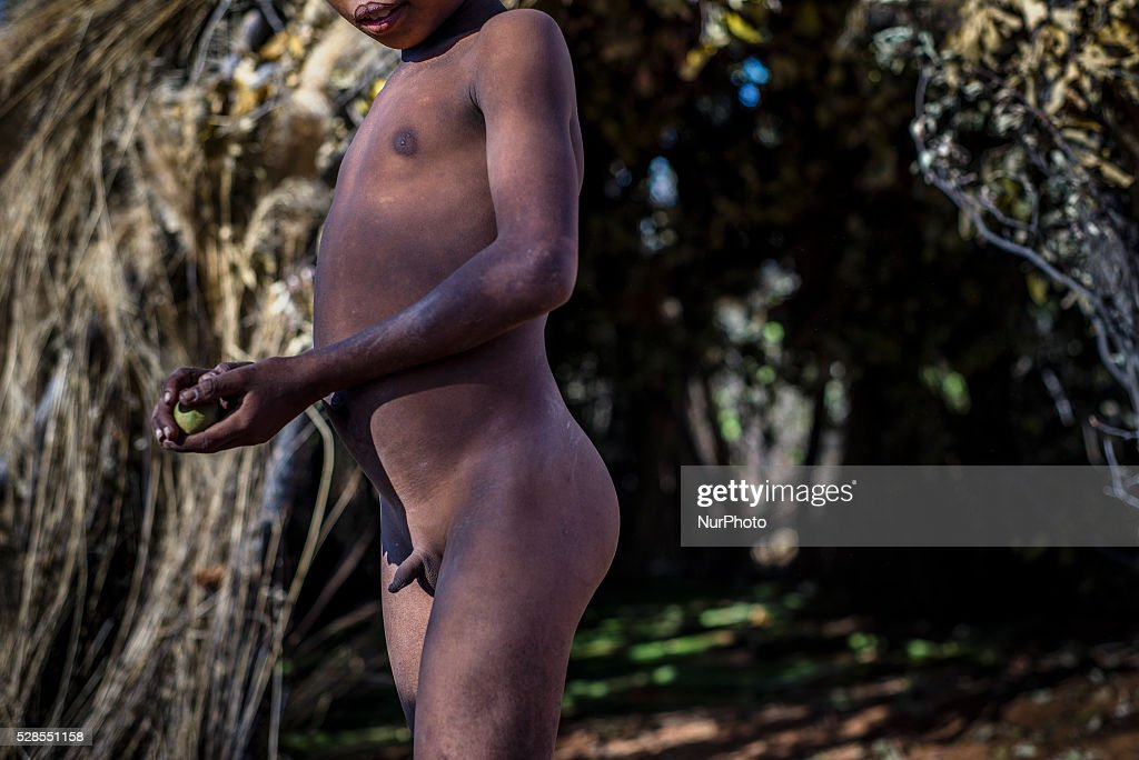 Naked tribal boy