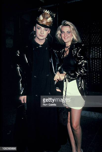 Boy George and Cornelia Guest during Boy George Cornelia Guest At Elaine's Restaurant at Elaine's in New York City New York United States