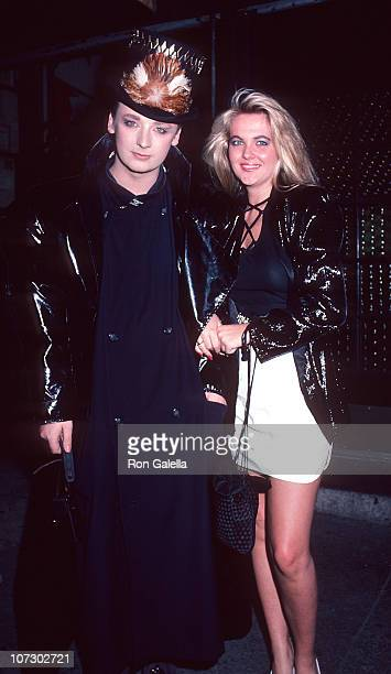 Boy George and Cornelia Guest during Boy George Sighting at Elaine's in New York City May 22 1985 at Elaine's Restaurant in New York City New York...