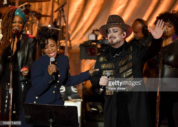 Boy George and Culture Club with special guest Gladys Knight perform at the Greek Theatre on October 3 2018 in Los Angeles California