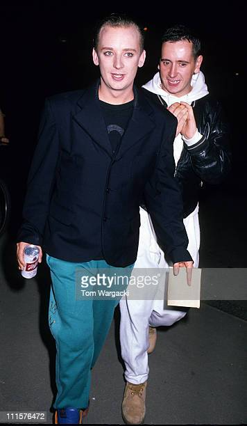 Boy George and guest at party for film 'Batman' during Boy George at party for film 'Batman' in London Great Britain