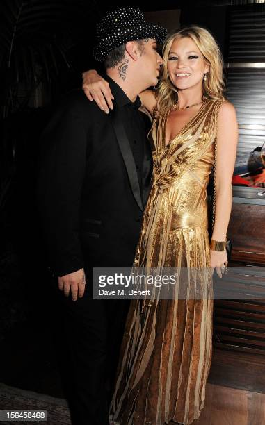 Boy George and Kate Moss attend an after party celebrating the launch of 'Kate The Kate Moss Book' hosted by Marc Jacobs published by Rizzoli New...