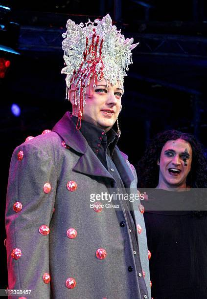 Boy George and Raul Esparza during the Curtain Call