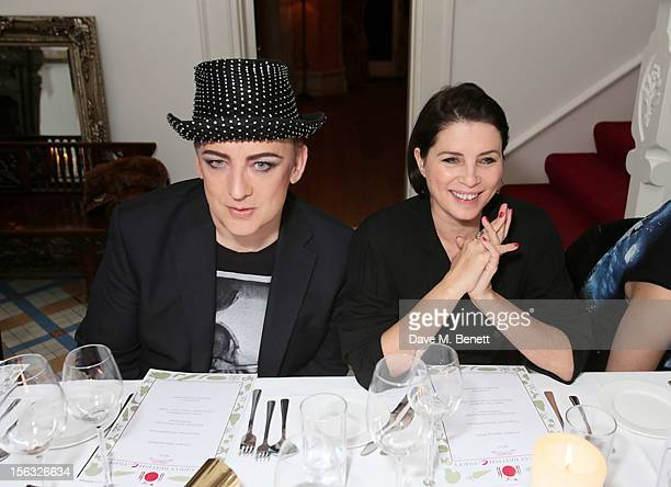 Boy George and Sadie Frost attend as Boy George and Gizzi Erskine host a Great British C Party in support of The Hepatitis C Trust the UK charity for...