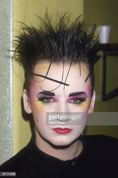 Boy George androgynous lead singer of the British group Culture Club 1985