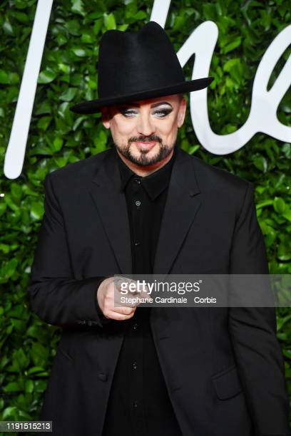 Boy George arrives at The Fashion Awards 2019 held at Royal Albert Hall on December 02, 2019 in London, England.