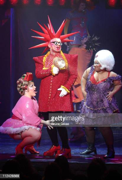 Boy George as 'Leigh Bowery ' during Closing Night of 'Taboo' on Broadway Backstage and After Party at The Plymouth Theater and Barrymore's...