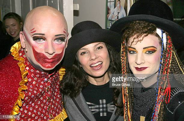 Boy George as 'Leigh Bowery' Fran Drescher and Euan Morton as 'Boy George' *Exclusive*