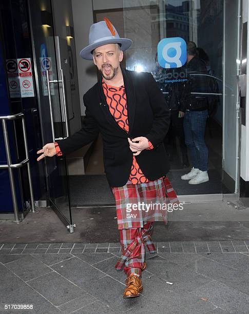 Boy George at Global House on March 23 2016 in London England