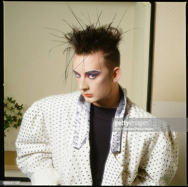Boy George at the hotel, Tokyo, 1985.