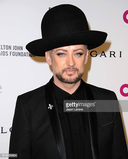 Boy George attends the 24th annual Elton John AIDS Foundation's Oscar viewing party on February 28 2016 in West Hollywood California