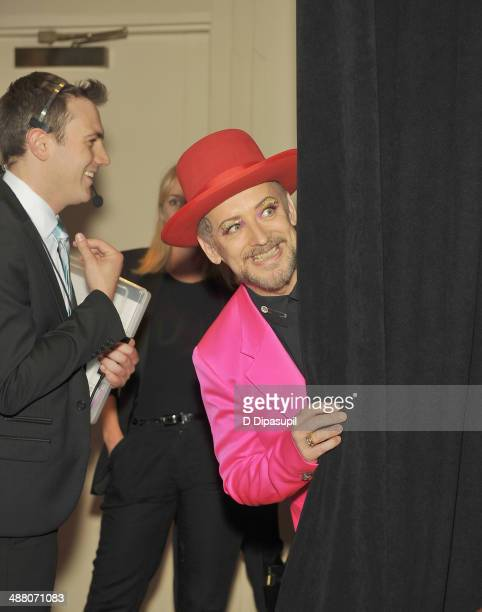 Boy George attends the 25th Annual GLAAD Media Awards In New York on May 3, 2014 in New York City.