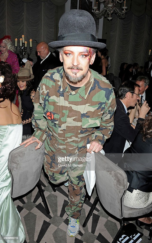 Fashion Galore! charity dinner hosted by the Isabella Blow Foundation at Claridges Hotel on November 19, 2013 in London, England.