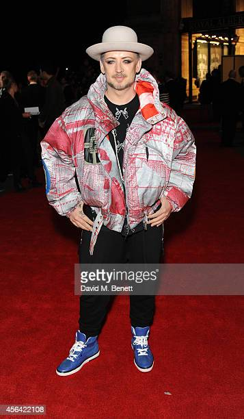 Boy George attends the World Premiere of Soul Boys Of The Western World at Royal Albert Hall on September 30 2014 in London England